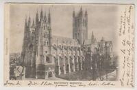 Kent postcard - Canterbury Cathedral - P/U 1911 (A801)