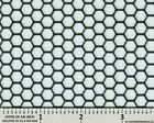 Ccg Universal 16 X 23 Perf Hexagon Aluminum Grill Mesh Sheet Black Powder Coat