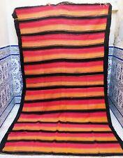 "Handmade Moroccan Vintage Kilim Berber Rug Tribal Azilal Carpet wool 9' x 5'2"""
