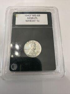 1943 P Semi Proof Like Wheat Penny $3,200 VALUE!!!