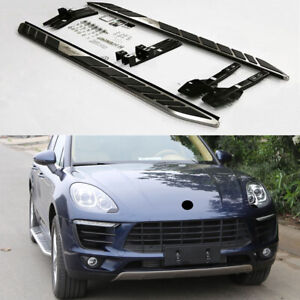 Running board fits for Porsche Macan 2014-2021 side step nerf bar S.S pedal 2pcs