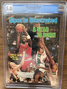 1984 MICHAEL JORDAN 1st CHICAGO BULLS A STAR IS BORN Sports Illustrated CGC 5.0
