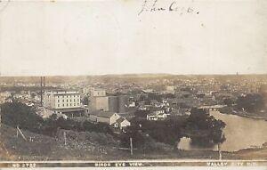 H57/ Valley City North Dakota RPPC Postcard c1910 Birdseye Elevator Homes 68