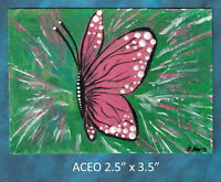 Original ACEO - Butterfly Power! - miniature acrylic painting, not framed