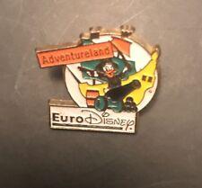 Vintage Walt Euro Disney Esso Donald Duck Adventureland Pin Badge Brooch