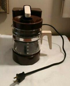 Hamilton Beach Coffee Maker Electric 4 Cup  Brown 1970's with Original Box