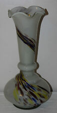 "Murano Art Glass - Stunning 16"" Large Gourd Vase with Rainbow Spatter - vgc"