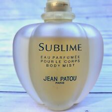 Vintage 90s SUBLIME Eau Parfumee Perfume Body Mist Jean Patou OLD VERSION 2.5 oz