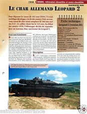 Armored Leopard Panzer NATO OTAN Germany Allemagne 2000 FICHE CHAR TANK