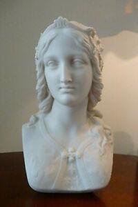 Antique Copeland 'Ceramic & Crystal Palace Art Union', Parian Bust Enid C1860