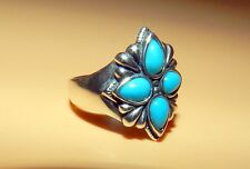 BEAUTIFUL STERLING SILVER CAROLYN POLLACK RELIOS  SIGNED RING TURQUOISE SZ 9.25