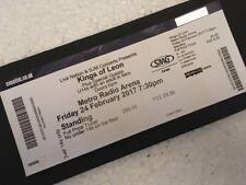 Kings of Leon Gig Ticket inc Stub for Metro Radio Arena Newcastle Feb. 2017 Tour