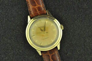 NICE VINTAGE 28 JEWEL MOVADO STEEL AND 14K SOLID GOLD AUTOMATIC CALIBER 431