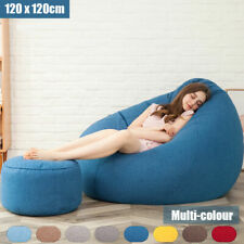 Extra Large Bean Bag Chairs for Adults Couch Sofa Cover Indoor Game Seat Lounger