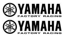 2 Yamaha Factory Racing Decal BLACK Sticker Motocross Jetski Waverunner yz r6 r1