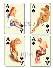 PIN-UP Waterslide Decals Ace of Spades Gambling for Guitars & Much more #207