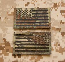 Infrared Kryptek Mandrake IR US Flag Patch Set US Special Forces Green Beret CAG