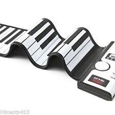 Sharper Image 49 -Key Play 'n' Roll Electronic Piano W/ AC Power Supply-GU001