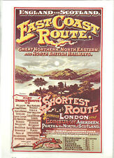 Railway Poster 18: East Coast Route London Scotland Great Northern GNR NER NBR