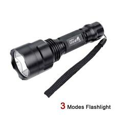 Portable UltraFire C8 8000 LM 3 Modes LED Flashlight Torch Lamp Light 18650 SS