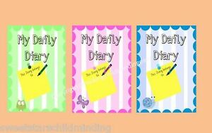A5 0-3 years MY DAILY DIARY  Childminder/ childminding  easy to use.