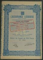 L'Assurance Liegeoise Societe Anonyme 1947