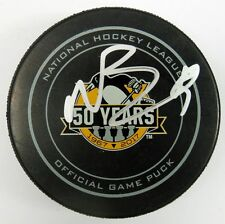NICK BONINO SIGNED PITTSBURGH PENGUINS 50TH ANNIVERSARY OFFICIAL PUCK 1009427
