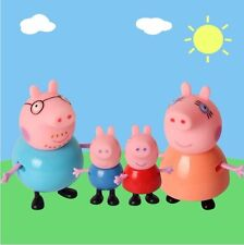4PCS Peppa Pig Family Plastic Figures Toys for kids-George,Peppa, Mummy, Daddy!