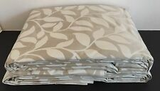 "New Laura Ashley Poplar Natural Curtains 78"" X 90 Long 198cm x 229cm Leaf Huge"