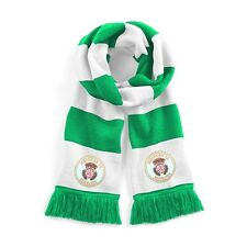 Hibernian Traditional 1980's Football Scarf Embroidered Logo