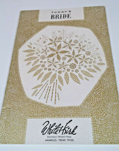 Vtg Today's Bride Planning Booklet  White & Kirk Department Store Amarillo Tx