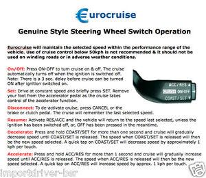 Plug-in Electronic Steering Wheel Cruise Control Kit Ford Ranger