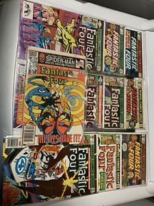 Comic Books Fantastic Four Lot 10 Total, Comic Book Store Estate.