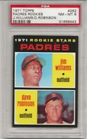 SET BREAK -1971 TOPPS # 262 PADRES ROOKIES,  PSA 8 NM-MT, JIM WILLIAMS,  L@@K !