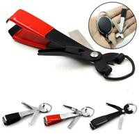 Quick Knot Tying Fishing Clippers Line Nippers Snip Zinger Tackle Retractor S4E1