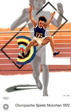 Olympische Spiele 1972 München Kunst-Motiv Plakat von Peter Phillips OLYMPIA