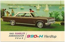 1965 Rambler Ambassador 990-H Hardtop Automobile Advertising Postcard