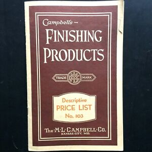 1930s M.L. CAMPBELL CO. vintage price list booklet FURNITURE & PIANO FINISHING