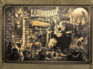 Jim Henson Labyrinth David Bowie Ape Meets Girl Kevin Wilson Print Poster Mondo