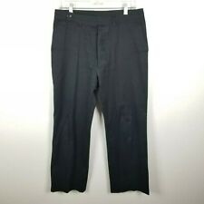 Wim Neels Pantalon 8 US (59 IT) Pants Black Straight Leg Button Fly Cotton Italy