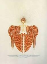 "ORIGINALE VINTAGE Erte Art Deco Print ""splendore"" FASHION BOOK Piastra"