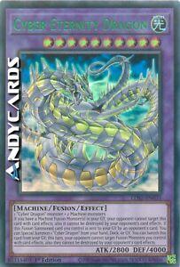 CYBER ETERNITY DRAGON (Drago Cyber Eternità) • Ultra R Verde • LDS2 EN033 Yugioh