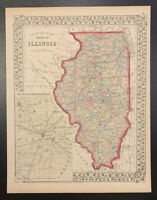 "Mitchell: ""County Map of the State of Illinois,"" 1874"