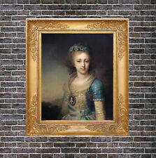 Old Master Art Antique Portrait Woman Grand Duchess Oil Painting no frame 30x40