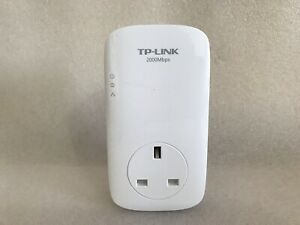 1 x TP-Link TL-PA9020P  AV2000 Gigabit 2 port Passthrough Powerline Adapter