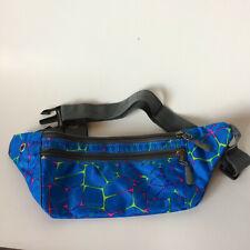 Sport Running Phone Casual Belt Waist Bag Pouch Zipper Fanny Pack blue neon