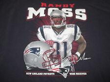 RANDY MOSS No. 81 NEW ENGLAND PATRIOTS Wide Receiver (3XL) T-Shirt