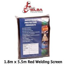 Red Welding Curtain/ Screen 1.8m x 5.5m