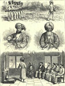 LIVINGSTONE EXPEDITION - ZANZIBAR - SULTAN 1872 VICTORIAN ENGRAVINGS
