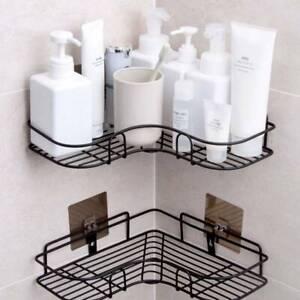 Bathroom Triangular Shower Caddy Shelf Corner Bath Storage Holder Rack Organizer